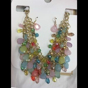 Jewelry - Gorgeous multi color set of necklaces n earring ❤